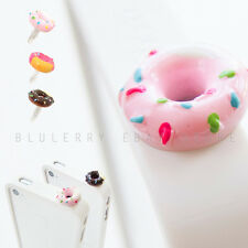 2pc Candy Topping Donut 3.5mm Anti Dust Dust Plug Cover Stopper Lt Pink+Brown