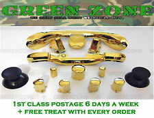 Custom Xbox 360 Controller Buttons ABXY + Guide + Trim Full Mod Kit Gold Chrome
