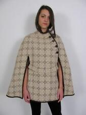 WALES WELSH WOOLLENS TAPESTRY ECLIPSE TAILORED WOOL WOVEN CAPE JACKET COAT~S/M