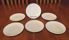 6 Rosenthal Continental China Germany Classic Modern White Bread Plates