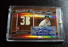 2004 Leaf Limited Legends Brooks Robinson Auto Autograph / Jersey #ed /5 LOW