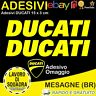2 Adesivi Sticker DUCATI serbatoio 916 996 998 999 748 S PANIGALE FACTORY GIALLO