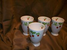 4 HANKOOK STRAWBERRY CUPS GLASSES
