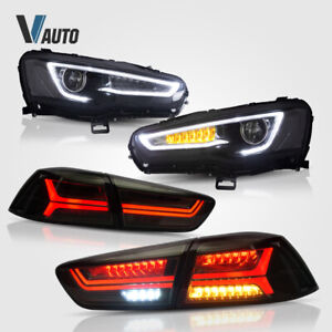 Audi Style LED Headlights and Tail Lights For Mitsubishi Lancer / EVO X 08-17