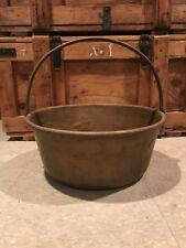 Vintage Antique Copper Jam Pan Pot Bowl w Handle