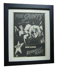 THE SAINTS+Eternally+POSTER+AD+RARE ORIGINAL 1978 PUNK+FRAMED+FAST GLOBAL SHIP
