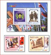 STL0801 100 years of Scouting 2 pcs and block.