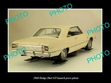 OLD POSTCARD SIZE PHOTO OF 1968 DODGE DART GT COUPE LAUNCH PRESS PHOTO 3
