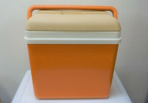 Super Retro 1970's Orange Cool Box, Camping VW Camper