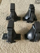 Thule 400 Xt Aero Foot Pack(4) W/ Pads, 2 Covers, Locks & key, Good Condition