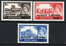 Kuwait QE2  1955-57 Castle Set (Type I) SG107-09 LM/Mint