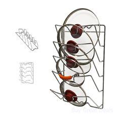 Pot Lid Rack Holder Storage Cabinet Door Wall Mount Kitchen Organizer Chrome New