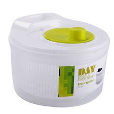 UK! Large Salad Spinner Vegetable Veg Leaf Dryer Drainer Colander Plastic Bowl