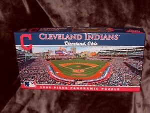 MasterPieces Panoramic Cleveland Indians Progressive Field Puzzle 39 x 13 1000