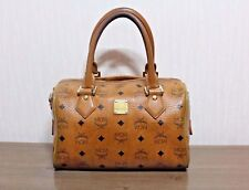 AUTHENTIC MCM COGNAC BOSTON HANDBAG