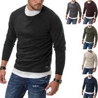 Jack & Jones Herren Strickpullover O-Neck Basic Shirt Pullover Langarmshirt