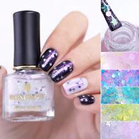 BORN PRETTY 6ml Holographic Nail Polish Opal Star Sequins Laser Nail Art Varnish