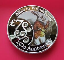 "2015 ALICE IN WONDERLAND ""THE HARE"" SILVER PLATED FANTASY COIN"