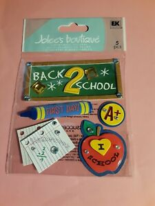 Jolee's Boutique back 2 school 3D sticker pkg(free ship $20 min US ONLY