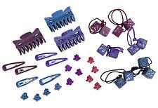Top NOTCH 3 x 1 Set Per Capelli Grip 2 Clip 2 DADI Bobbles 4 piccole clip ogni colore