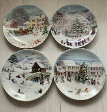 Lenox American Christmas Set of 4 Party Plates $58