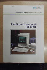 rare catalogue ordinateur vintage Hewlett Packard HP-150II écran tactile 1985