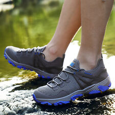 Mens Sneakers Ultra Lightweight Breathable Mesh Sport Outdoor Gym Running Black
