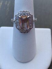 Ring Bomb Party Size 6 Peach Quartz Ring