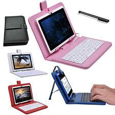 7 Pollici Ecopelle tastiera USB Custodia/Cover Folio Con Supporto per Tablet