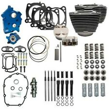 """S&S 107"""" 124"""" Oil Cooled Power Package Chain Drive Black Harley Touring Softail"""