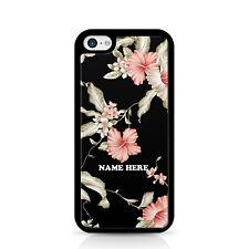 Floral Personalised Black Phone Case
