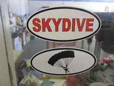 RED SKYDIVE & PARACHUTE OVAL Decals Car Window Bumper Sticker Plane Sky Dive
