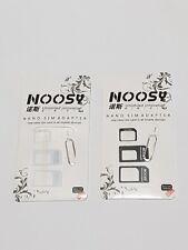 2X Nano to Micro/Standard SIM Card Adapter Converter for phones white+black