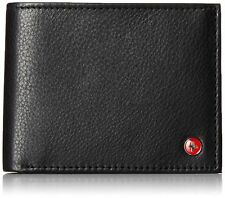 Alpine Swiss RFID Blocking Mens Leather Bifold Wallet Passcase Black