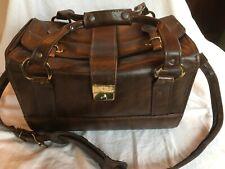 Vintage 1970's Imperial Brown Faux Leather Camera Bag Strap Velvet Interior USA