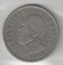 HAITI,   1908 (W)   50 CENTIMES,  COPPER NICKEL,  KM56,  VERY FINE  (001)