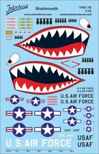 Sharkmouth 1/18 (140x90 mm) Waterslide decal 1/18 TH01-18