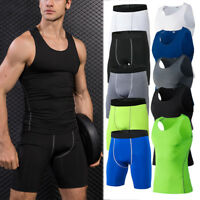 Men's Compression Shorts Tops Training Yoga Running Spandex Dri fit Quick-dry
