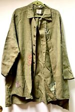 Rare Vintage Collector's Piece! Blue Fish Barclay Olive Green Linen Shirt Coat