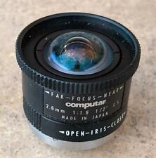 "Computar 2.6mm 1:1.6 1/2"" CCTV Camera Lens FAST FREE SHIPPING!! F4-2"