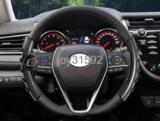 Carbon fiber style Steering Wheel Sheath Cover Trim For Toyota Camry 2018 2019
