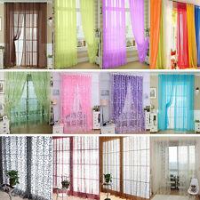 Rideaux Voilages Rideau Voilage Voile Porte Fenêtre Floral Curtain Décor Valance