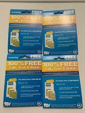 (4) LOT FreedomPop Free Basic 200 Plan GSM 4G LTE 3-in-1 SIM Cards