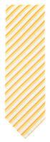 """New Finamore Napoli Yellow and Cream Stripes Tie - 3"""" Wide"""