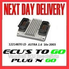 VAUXHALL /OPEL ECU ASTRA  ECU 1.6 PLUG N PLAY ENGINE CODE Z16XE 12214870 LD 2003