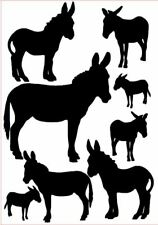 Donkey vinyl stickers, decals, for car, window