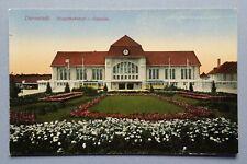 Ancienne Carte Postale Carte Postale Darmstadt Gare Principale Ostseite Couleur