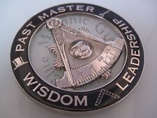 Masonic Past Master cut out car Auto Silver/Black Emblem:.