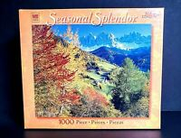 Seasonal Splendor Fall Village 1000 Piece Jigsaw Puzzle Hasbro New Sealed