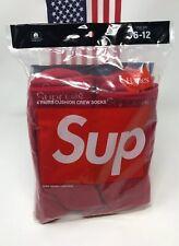 Supreme x Hanes Crew Socks Red (Single Pair) NEW 100% Authentic